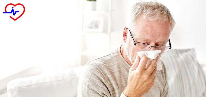 yaşlı grip adam